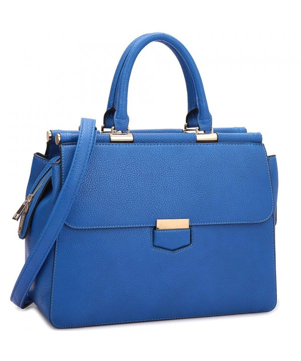 Flapover Briefcase Messenger Removable 6927 Blue