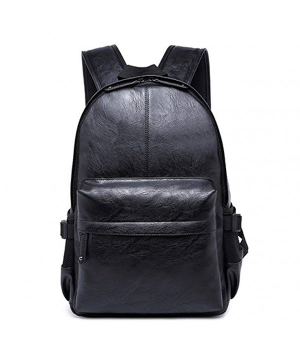 Leather Backpacks Fashion College Rucksack