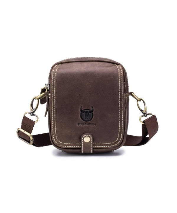 WeeDee Mens Leather Messenger Bag
