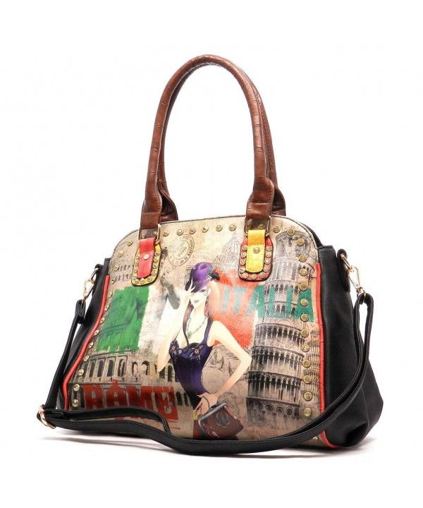 Graphic Rhinestone Shoulder handbag designer