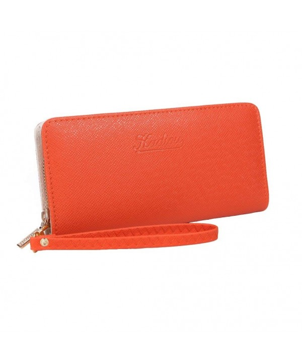 Yinglite Women Wallet Clutch orange