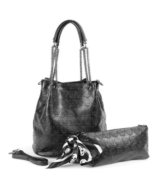 Womens Skull Shoulder Gothic Handbag