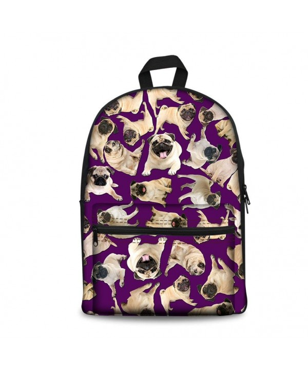 UNICEU Canvas School Backpack Bookbag