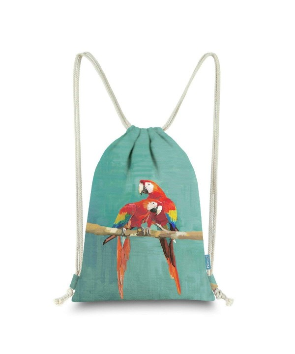 Miomao Drawstring Backpack Parrot Scarlet
