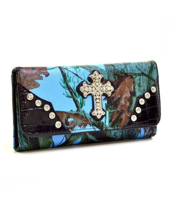 Western Rhinestone Bling Accent Wallet