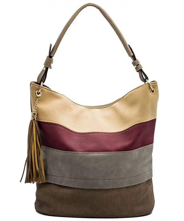 Handbags Shoulder Tassels Stripes Handle
