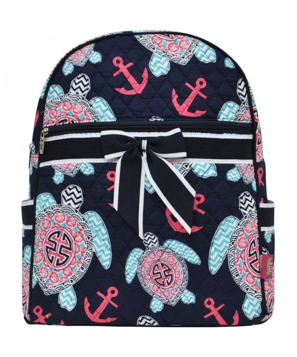 Ocean Themed Prints Quilted Backpack