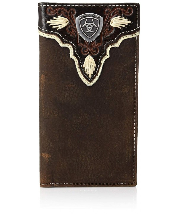Ariat Distressed Shield Western Wallet
