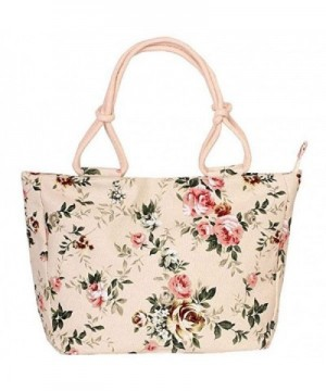 Donalworld Flower Casual Zipper Canvas