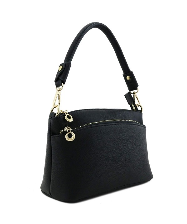 Double Pocket Versatile Crossbody Black