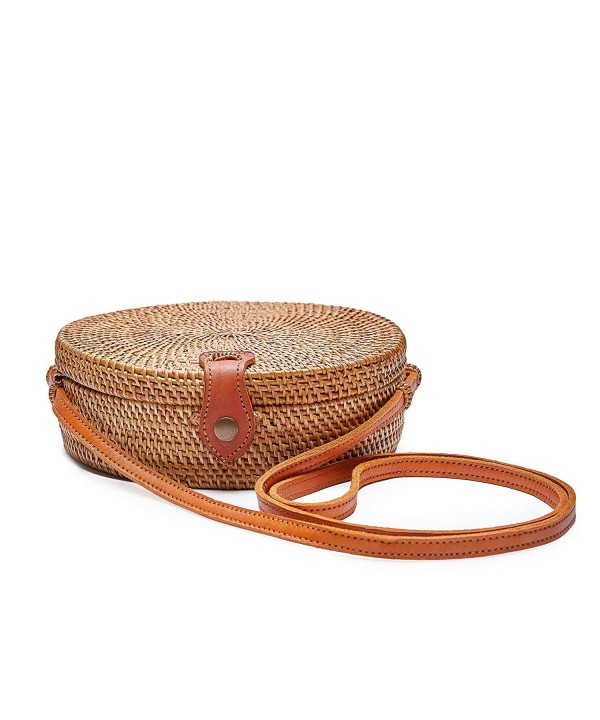 Dr Craft Handwoven Rattan Crossbody Leather