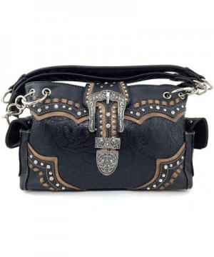 Justin West Leather Rhinestone Concealed