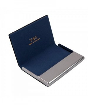leather business holder Stainl CC1006
