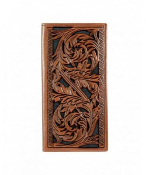 Signature Floral Tooling Leather Wallet