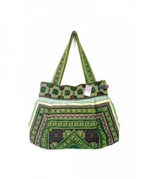 Green Diamond Tribe Embroidered Handbag