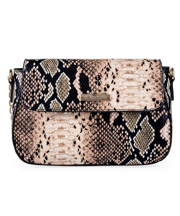 YAOSEN Snakeskin Pattern Shoulder Crossbody