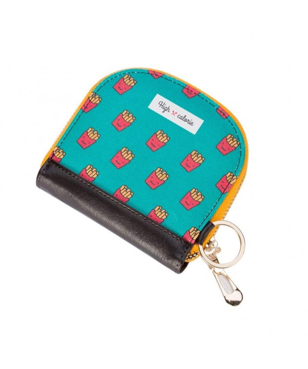 Womens Cartoon Leather Holder Zipper