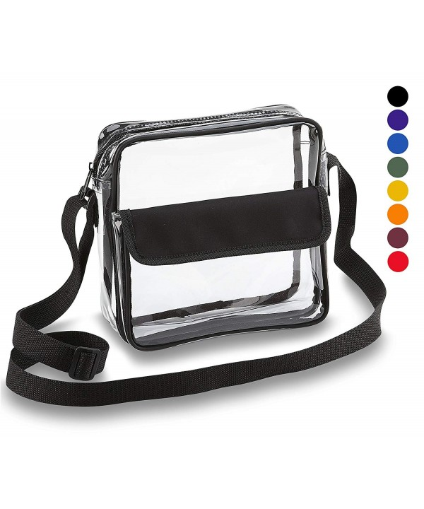 Clear Crossbody Messenger Adjustable Transparent