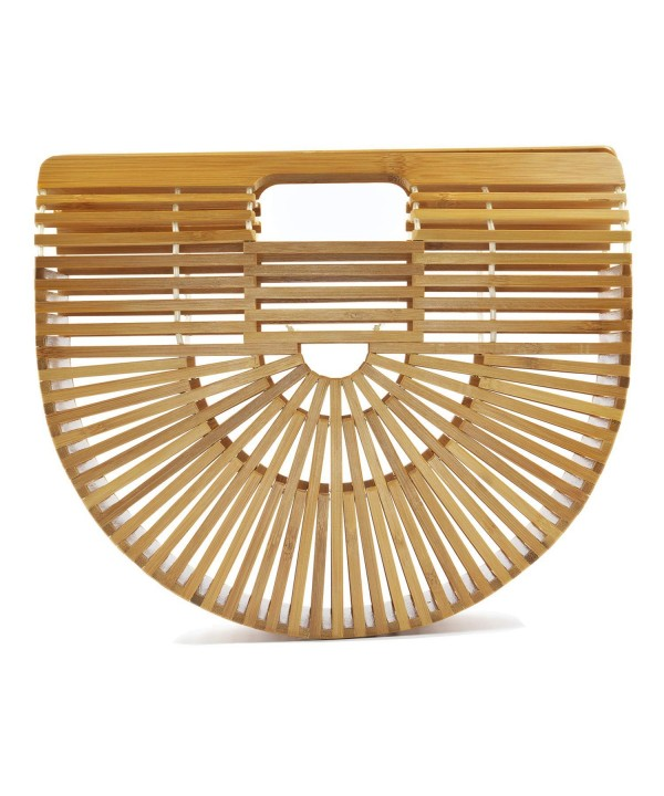 Womens Handle Bamboo Handbag Summer