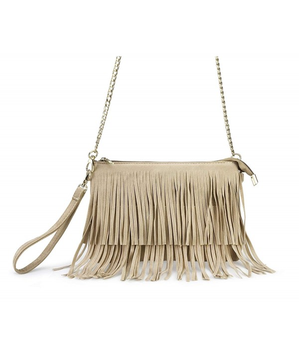 Hoxis Fringe Womens Shoulder Wristlet
