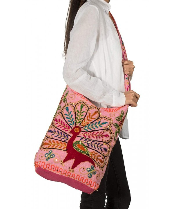 Patchwork Peacock Handmade Crossbody Shoulder