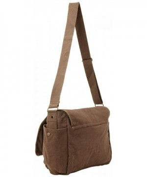 Brown Original Heavyweight Cotton Canvas Classic Heavyweight Military  Messenger Bag with Pin - CZ115P3U4TL 2f16530290a