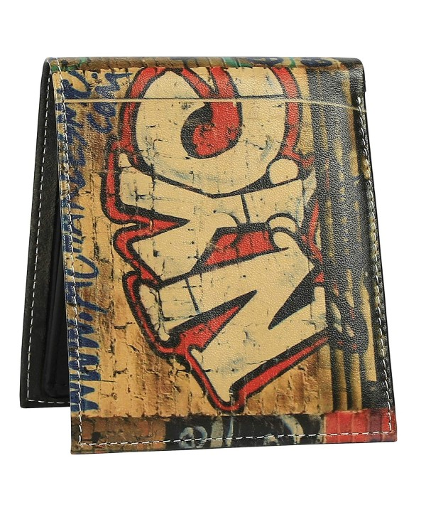 Wallet Men Genuine Printed Graffiti