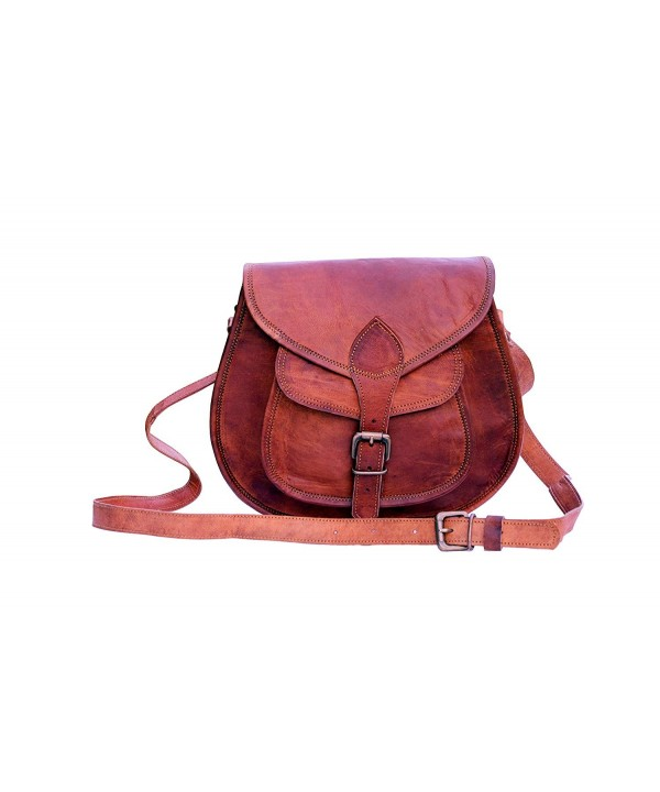 IndianHandoArt Distressed Leather Crossbody Shoulder