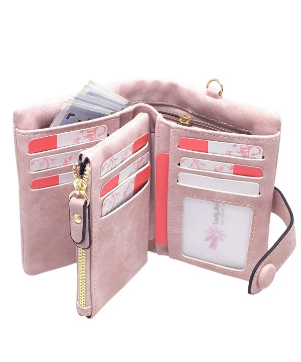Leather Wallets Wristlet Capacity Organizer