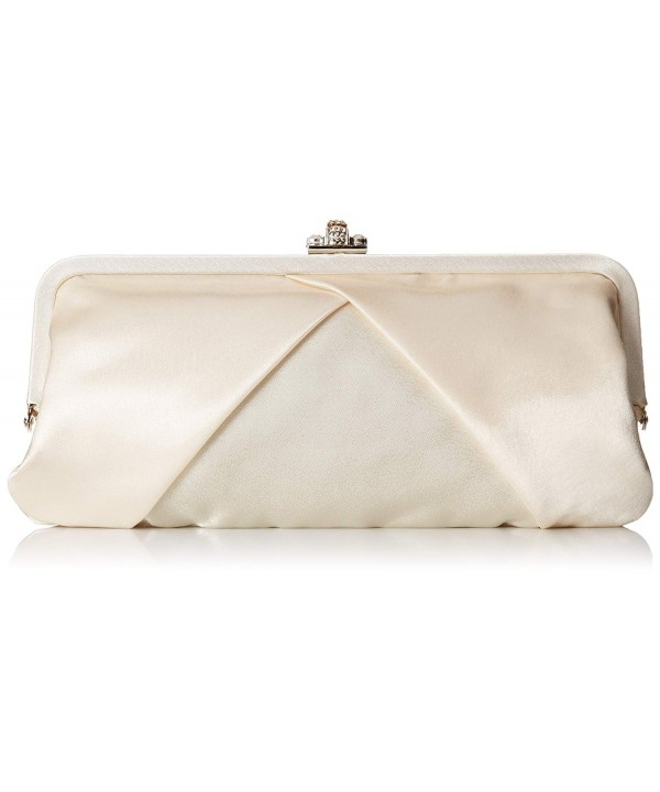 Furmani 20251CMP Satin Clutch Rhinestone