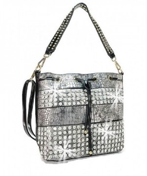 Alligator Snake Layered Rhinestone Messenger