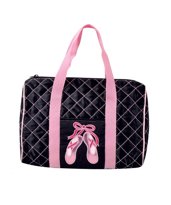 Dansbagz Quilted Pointe Duffel Black