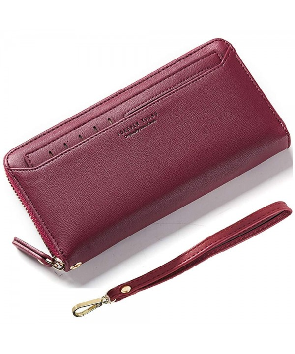 AnnabelZ Wallet Bifold Removable Burgundy