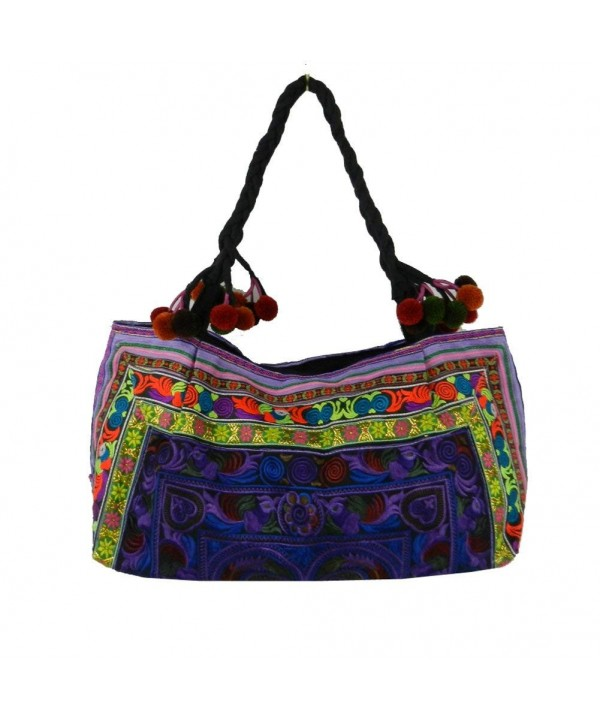 Shoulder Hilltribe Ethnic Handbags Embroidered