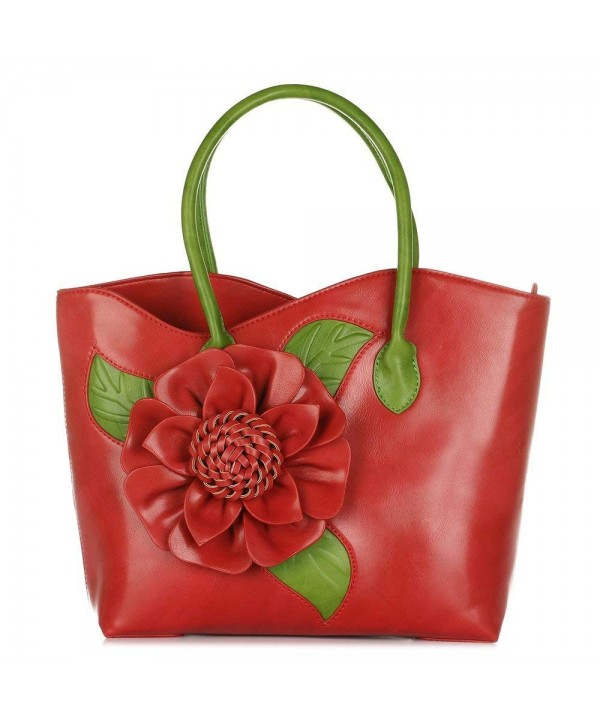Women Flower Seris Leather Vanillachocolate
