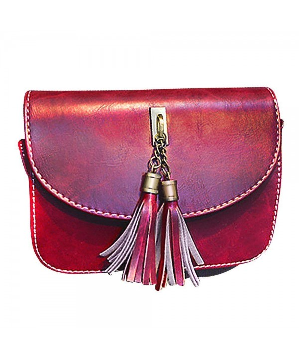 Leather Handbag Crossbody Tassel Shoulder