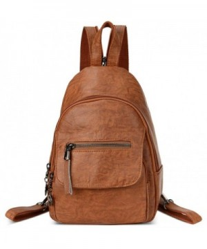 Small Leather Convertible Backpack Shoulder