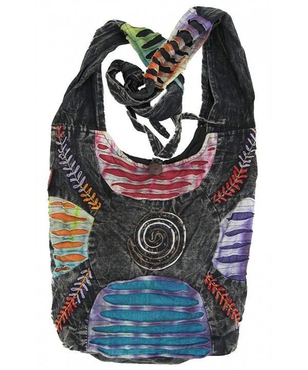 Bohemian Embroidered Ripped Handbag Backpack