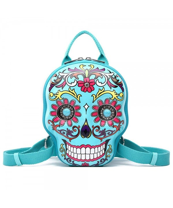 Backpack Fashion Calavera Daypack Turquoise