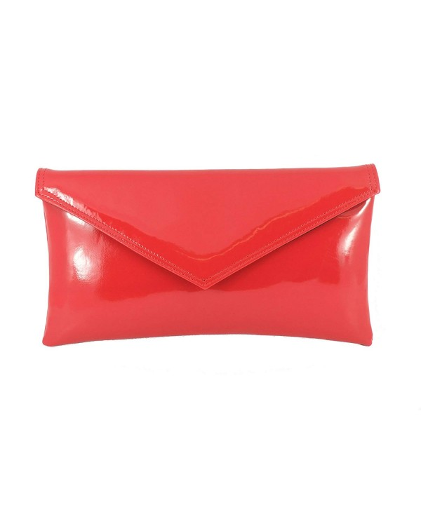 Womens Envelope Leather Patent Shoulder