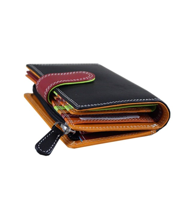 Colored Double Stitched Leather blocking Compartment