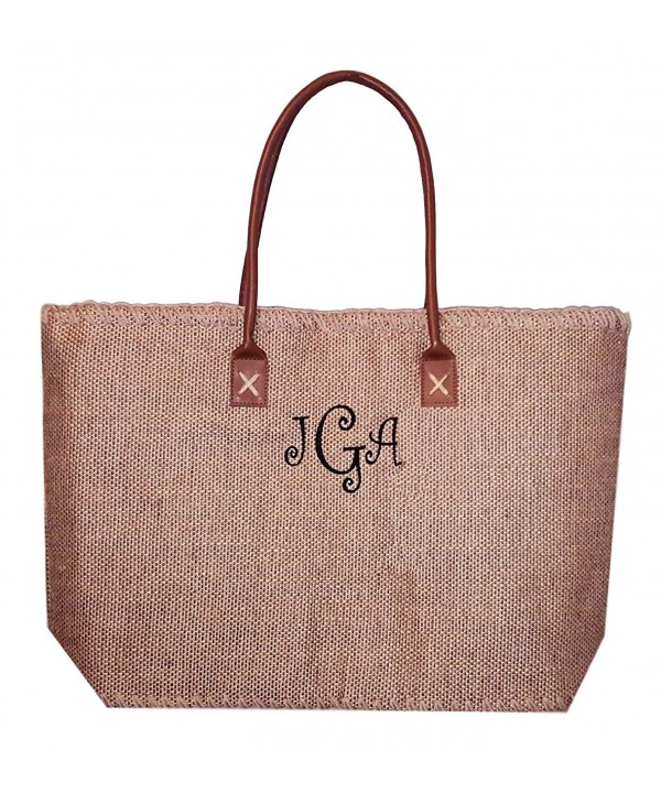 101 BEACH Large Jute Tote