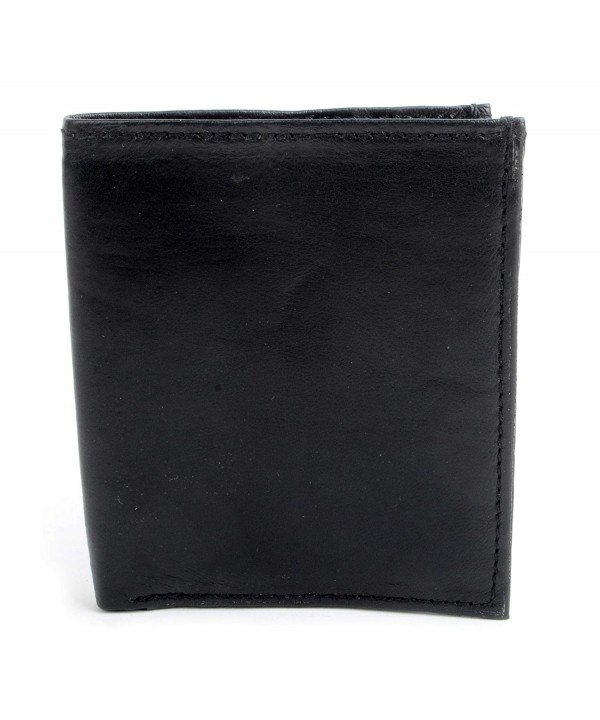 Genuine Leather Hipster Vertical Bi Fold