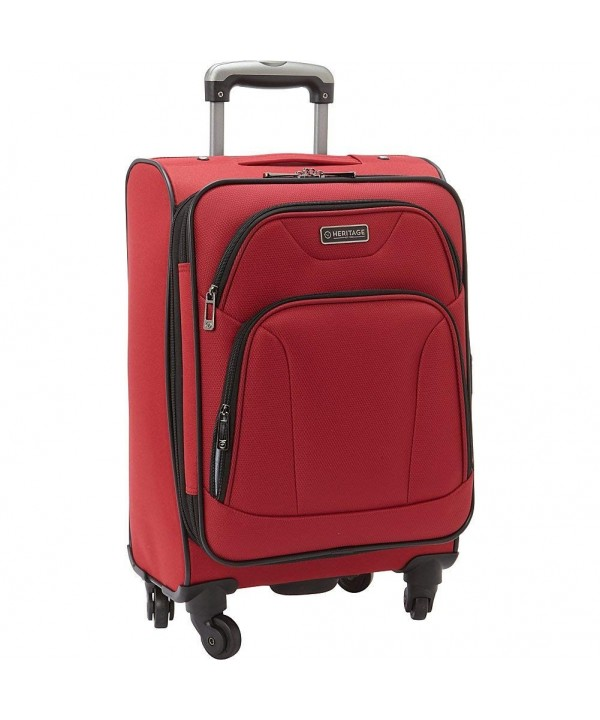 Heritage Travelware Wicker Carry Suitcase