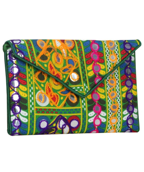 Multi Color Banjara Evening Clutch Mirror