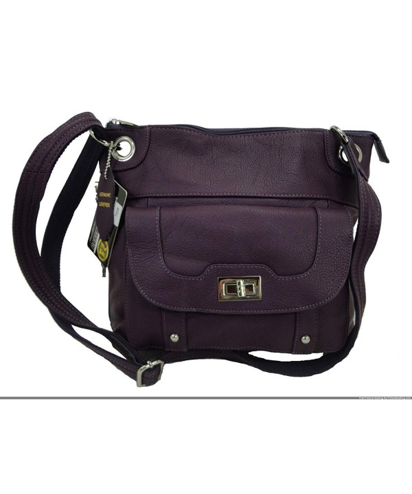 Concealed Carry Leather Resistant Strap Purple