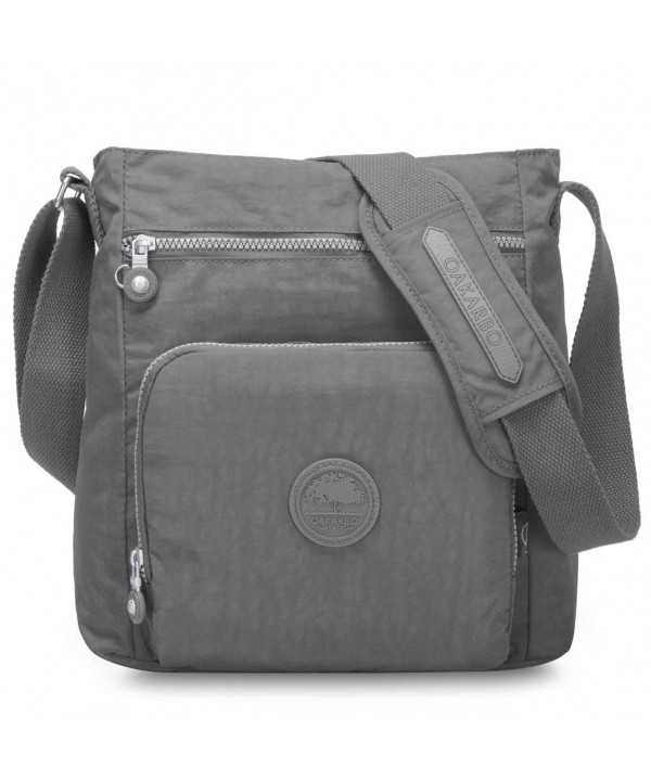 Oakarbo Crossbody Multi Pocket Shoulder gray