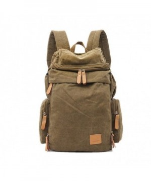 Unisex Canvas Backpack Function Daypacks