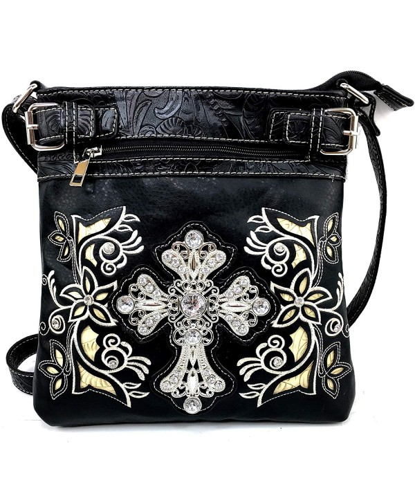 Justin West Embroidery Rhinestone Messenger