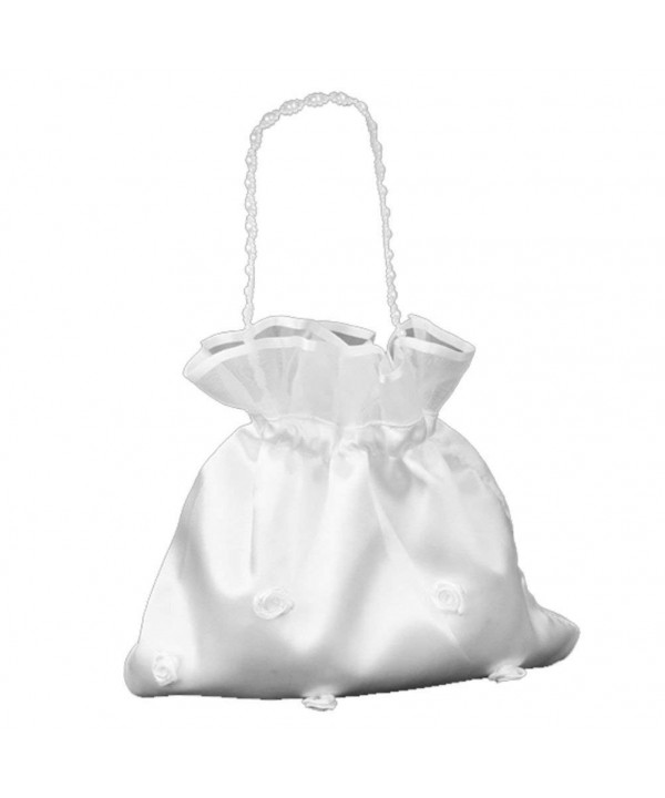 LEORX Satin Bridal Handbag Flower